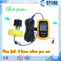 achat en gros de sondeur sans fil-Sonde sans fil portatif de sondeur de profondeur de pêche de plongée de sonde de sondeur de sonde de pêche de profondeur Fishfinder 100m Livraison gratuite, wu