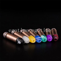drip tips acrylic pipe fittings - 20pcs Bullet Acrylic Stainless Steel Drip Tip Tips Mouthpieces fit eGo Thread series Atomizer Pipe glass Cartomizer E Cigarette