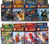Super Heroes The Avengers 8pcs lot Iron Man Hulk Batman Wolv...