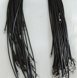 Wholesale Black Mens Womens mm woven flax wax rope necklace to cm tell me the chain length can mix order