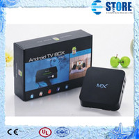 Wholesale Amlogic MX Android TV Box Cortex A9 Dual Core GHz G ROM G RAM Set Top Box Media Player Support M6 EM6 wu