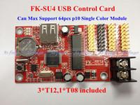 Wholesale FK SU4 USB port p10 support Pixels single amp Tri color LED display Control Module Card panel H0034
