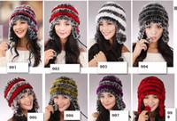 Wool rabbit fur hat - Rabbit fur hat children Rabbit fur earmuffs cap Ms hat cap cap