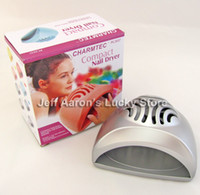 Wholesale Professional cute mini electric nail art polish blower dryer fan nail salon equipment tool pink ang gray are available