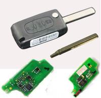 Car Key Covers citroen - 3 Button Flip Remote Key for Citroen C4 MHZ