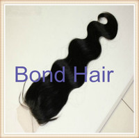 Peruvian Hair Natural Color Body Wave Free Shipping Peruvian Virgin Bodywave Lace Top Closure With Baby Hair 4X4 Bleached Knots Naturl Color Can Be Dye