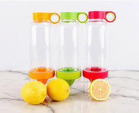 Wholesale Citrus Zinger Fruit Infusion Water Bottle Citrus Zinger Water Bottle with Citrus Juicer Lemon cup color with package