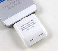 Wholesale Digital Breath Alcohol Tester Analyzer With Light For iPhone iPad Ipad Mini Ipod Touch PG I5006