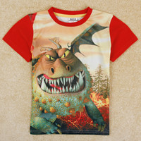 Wholesale 4y y Boys T shirt NOVA new Kids wear How to Train Your Dragon baby boy cotton cartoon short sleeve d printing T shirts C5050Y