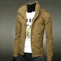 Wholesale tops new hot mens jackets cotton outwear men s coats casual fit style designer fashion jacket colors M XXXL