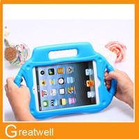 Wholesale Cartoon EVA Foam Children Kids Shockproof Protection Protective Case Cover for iPad mini Portable Cute Baby Safe Handle Stand Holder