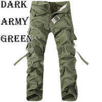 cargo pants - Wholesales High Quality Men Cotton Casual Military Army Cargo Camo Combat Work Pants Trousers R48 salebags