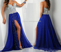 royal blue colorful crystal bodice long prom dresses 2014 sw...