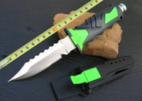 Fixed Blade best hiking equipment - New Green blue SCUBA Diving Knife Leggings Knife Outdoor gear survival Equipment Diver s knife best christmas gift High quality H
