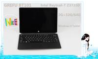 Wholesale Windows tablet GREFU BT101 Intel Baytrail T Quad core Z3735D x800 IPS Screen G G G MP MP Camera Wifi WCDMA G mAH