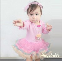 Wholesale Fall New Baby Girl Tutu Dress Romper Birthday Candle Flower Gauze Toddler Princess Dresses Infant Clothes Jumpsuits GX737