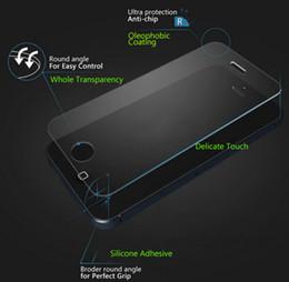 Écrans 4s à vendre-Protecteur d'écran en verre trempé premium pour iPhone 6 6S plus 5S 5c 4S Galaxy S6 S5 S4 note3 4 5 Antidéflagrant 0.3mm 9H 2.5D Arc clair film