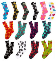 Socks Unisex Cotton Marijuana Leaf Socks Street Corner Skateboard Jamaica Weed Leaf Crew Plant Life High Sock HUF