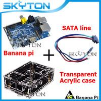 Cheap Original Banana Pi + Sata Line Cable ( 34.5cm 100% copper 100% copper wire) + Transparent Acrylic Case Box