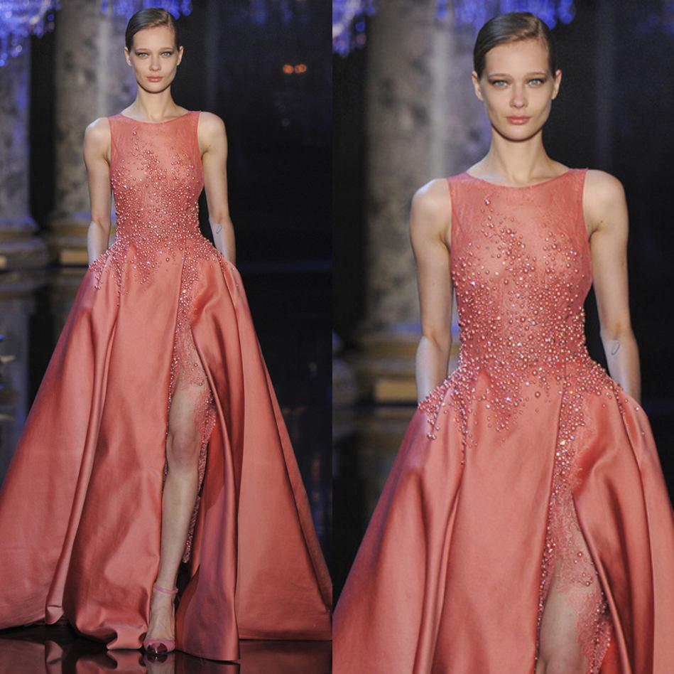 2015 Elie Saab Couture Evening Dresses With Sheer Neck ...