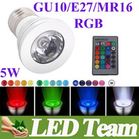 led rgb remote bulb 5w - New Arrival Magic W MR16 GU10 E27 B22 RGB Spotlight Lamp Bulb Downlight IR Key Remote AC110 V MR16 V Beam Angel CE ROHS UL SAA