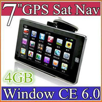 Wholesale New inch GPS Device Car GPS Navigation AV in GB Card MB Ram UK