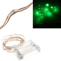Wholesale Green V M Leds Battery Operated LED Copper Wire String Fairy Lighting for Xmas Party Wedding Decoration