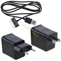 Wholesale High Quality V EU US Plug AC Travel USB Wall Charger For quot Samsung Galaxy Tab Tablet SV001992