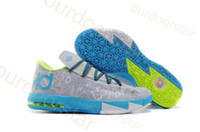 Mid Cut Men Spring and Fall Newest Basketball Shoes KD VI 6 Sports Shoes For Men Running Shoes Athletic SHoes Superstar Shoes Size Eur 40-46 Hot Selling