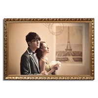 Frame 5078 Gold Silver Wedding photo frame picture frame oil painting frame European retro creative custom wood frame picture frame F9