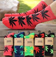 Multicolor Marijuana Maple Leaf Socks Towel Bottom Thicken H...