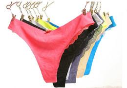 New VS Ultra-thin Lace Comfort Jacquard No trace invisible Seamless women Panties Briefs G-string thong 5 pcs lot