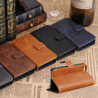 Wholesale For iphone S S Retro Magnetic Wallet Flip PU Leather Case Cover With Credit Card Slot Stand Holder For iphone5