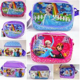 Wholesale Children s Bags Frozen Messenger Bags for Girls Frozen Princess Elsa Handbags Kids Single shoulder bags Children s school bags A0343