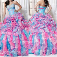 Wholesale 2015 new Mix Color Masquerade Ball Gowns Sweet Dresses With Sweetheart Unique15 Birthday Quinceanera Dress Plus Size Wedding Gown BO6303