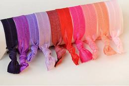 Wholesale 100Pcs Rainbow Ribbon Fold Over Elastic Hair Ties Bracelet Elastic Wristbands Ponytail Scrunchies For Women kids Mixed Colors