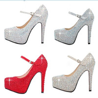 Wedding Heels High Heel Free Shipping Color Optional Shiny High High Heels Formal Shoes Women's Charming High Heels Evening Prom Party Women Silver Wedding Shoes