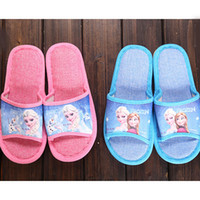 Wholesale Frozen Princess Slippers House antiskid Ventilation Shoes Men Women Slipper