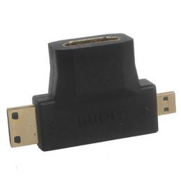 Wholesale 3 in Micro HDMI Male Mini HDMI cable Male to HDMI Female hdmi Cable Adapter HMP_516
