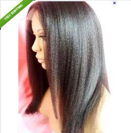 Women wigs indian virgin human hair lace front wigs&full lace wigs kinky straight fashion human hair wigs free shipping