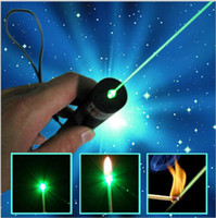 Wholesale New Arrivals Green Laser Pointer Pen Lazer Light with Battery nm Professional Powerful Retail Box Focus Burning Wood Matchs