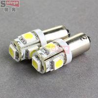 Wholesale 10pcs BA9S bulb SMD Car LED SMD for car auto indicator light rear turn signal lights bulbs parking lights reversing light bulbs