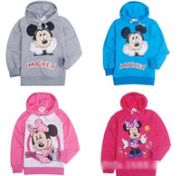 Unisex Spring / Autumn Hooded New 2014 Miki Minnie Mouse Kids Clothing Hoodie Long Sleeve Sweatshirts Children Boys Girls Cartoon Lovely Tops Childs Casual Clothing H1078