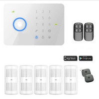 Wholesale PIR Chuango G5 Touch Keypad GSM SMS Wireless Home Alarm System Security Burglar RFID Access Control MHZ Sensor Siren Remote