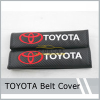 New 2x Sports Black Carbon Fiber Car Seatbelt Cover Shoulder...