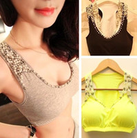Wholesale New tops women blouses sexy camisoles women knitted cotton lace spaghetti strap vest ladies tansk top shirt Tanks amp Camis