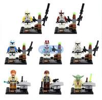 Wholesale Star Wars Yoda Han Solo Obi Wan Kenobi Clone Trooper Building Blocks Minifigure DIY Bricks Building Blocks Toys set