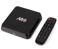 Wholesale M8 Quad Core Android Smart TV Box Amlogic S802 GB GB Mali GPU G G KitKat XBMC Dhl