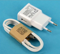 Wholesale OEM For Samsung Galaxy S4 i9500 S2 S3 Note Home EU US Wall Charger Adapter Micro Usb Data Cable with retail box