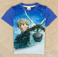 2014 New Europe Frozen Elsa Anna Summer Boys Short Sleeve Co...